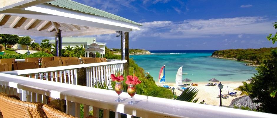 Caribbean, Antigua, Verandah Resort, BEACH BAR-GRILL overlooking Lovers Beach