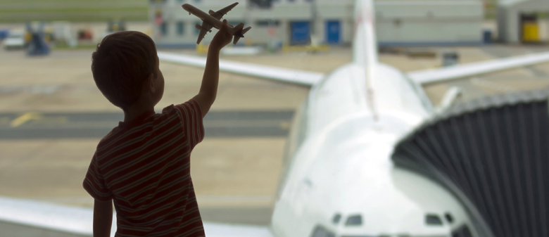 Young boy and Airliner