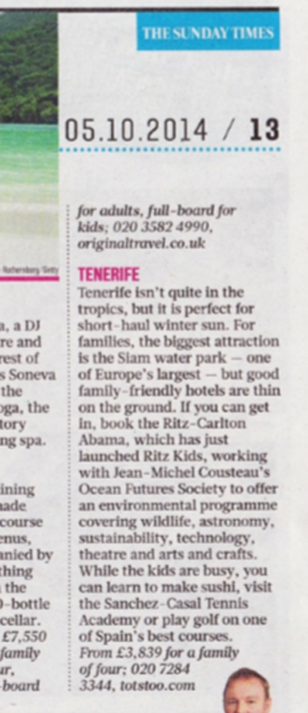 Sunday Times 5th October 2014